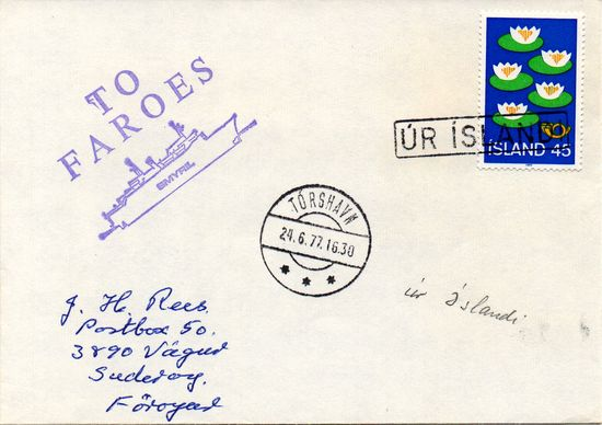 1977 Incoming Ships Mail - From Iceland