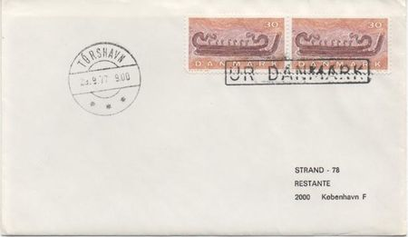 1977 Incoming Ships Mail - From Denmark