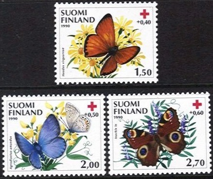 1990 Red Cross - Butterflies