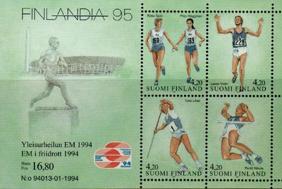 1994 Finlandia 95 (2nd issue) M/S
