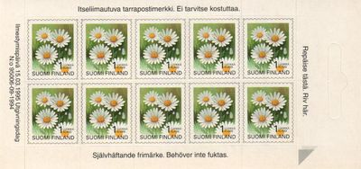 1995 Provincial Plants (Sheetlet)