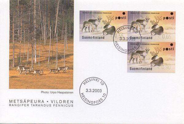 2003 Forest Reindeer Machine Labels