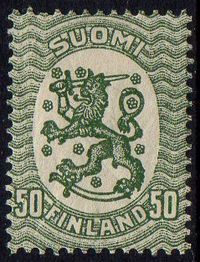 50p Dull Green Perf 14½ x 15
