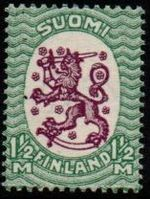 1½Mk Purple & Green