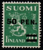 1931 50 PEN on 40p Green