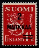 1937 2 MARKKA on 1½M Carmine