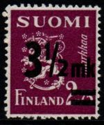 1943 3½ mk on 2.75M Purple