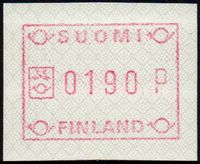 1989 Fixed Value FRAMA Label (190p)