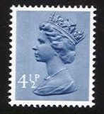 4½p Grey-blue 2 Side Bands