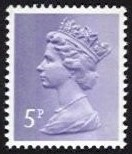 5p Pale violet 2 Side Bands