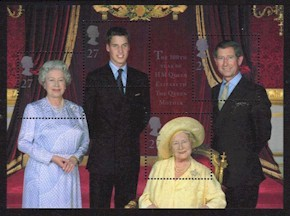 2000 Queen Mother 100th Birthday M/S