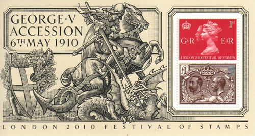 2010 King George V Accession M/S