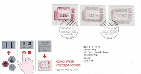 1984 FRAMAS 3v Official FDC