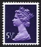 5½p Violet 2 Side Bands