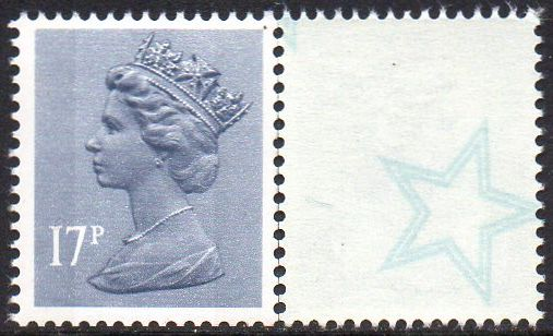 17p Grey Blue 2 Side Bands Type 4 Underprint