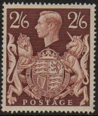 1939-48 Arms High Values 2/6 Brown L/M/M