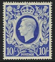 1939-48 Arms High Values £1 Brown M/M