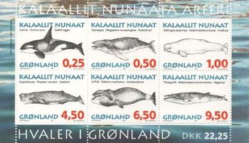1996 Whales (1st series) M/S