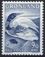 "1967 ""Great Northern Diver and Raven"" 90ø"