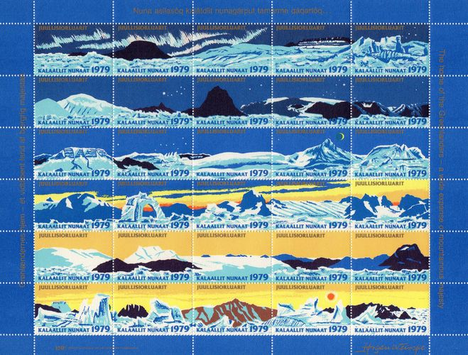 1979 Christmas Seals Sheet