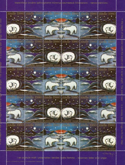 1980 Christmas Seals Sheet (Perf.)