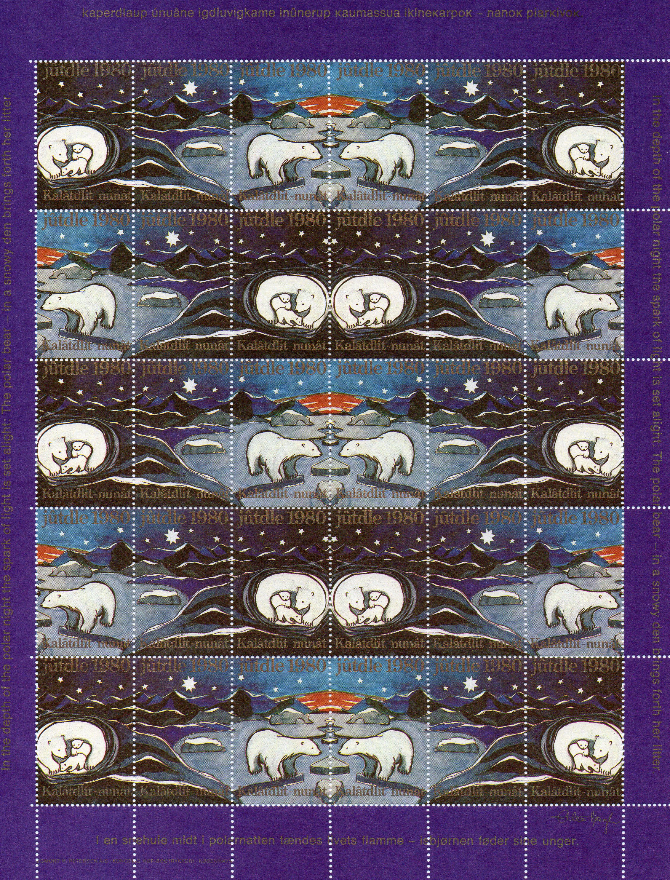 1980 Christmas Seals Sheet (Imperf.)