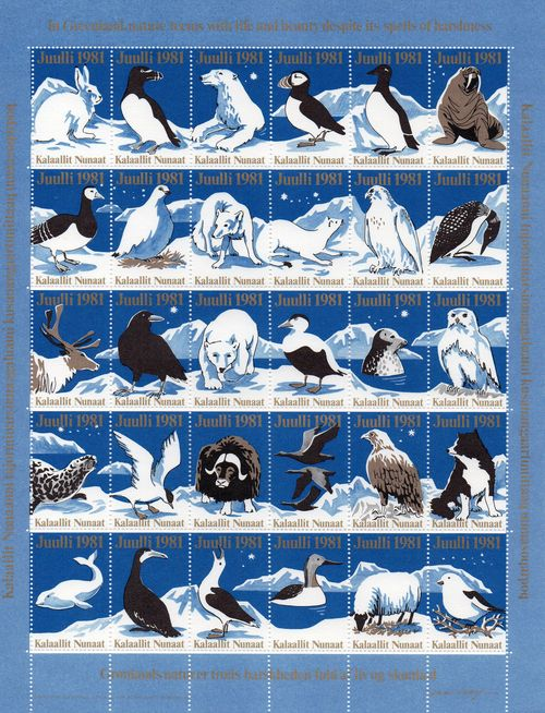 1981 Christmas Seals Sheet (Imperf.)