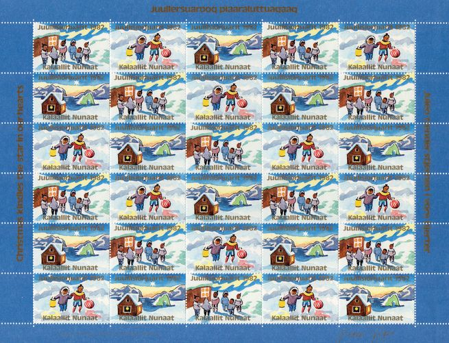 1982 Christmas Seals Sheet