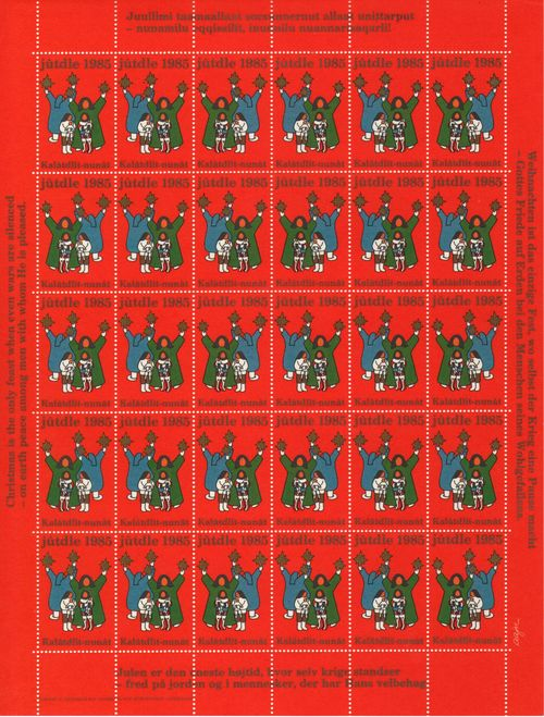 1985 Christmas Seals Sheet (Perf.)
