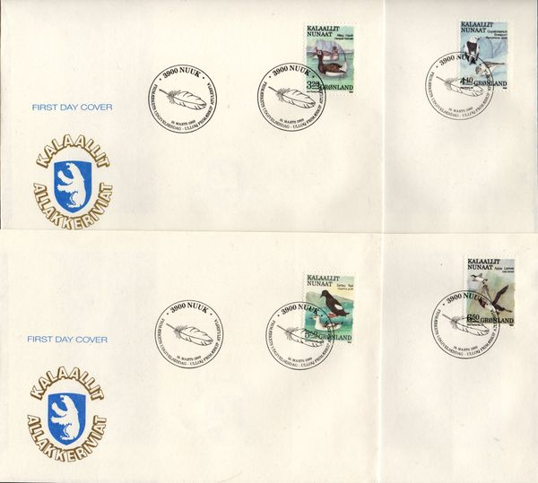 1989 Birds Definitives (4 covers)