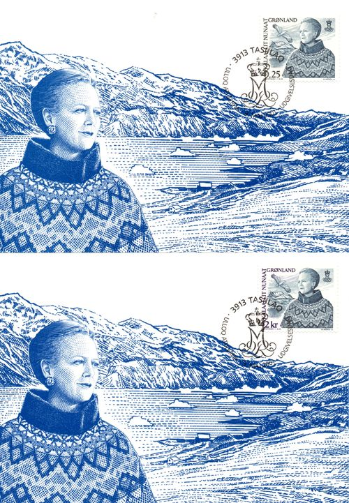 2001 Queen Margrethe II Definitives (2) PHQ