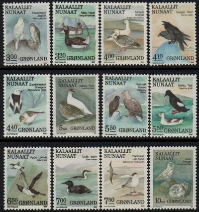 1987-90 Greenland Birds Set