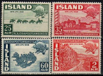 1949 U P U  [Iceland Stamps 1] - £0 85 : B  McLean - Stamps for