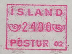 1983/99 Machine Label 2400a Numbered 02