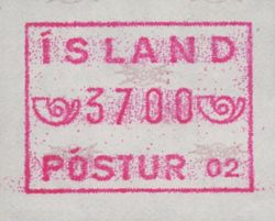 1983/99 Machine Label 3700a Numbered 02
