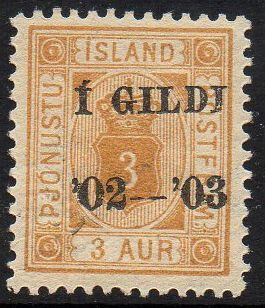 1902 Official I GILDI 3a Orange Perf 12½