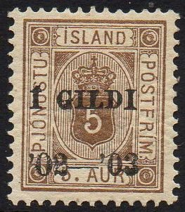 1902 Official I GILDI 5a Brown Perf 12½