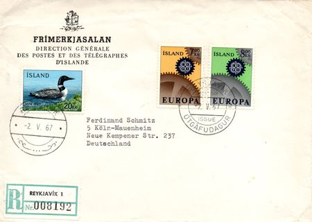 1967 Registered Cover to Germany