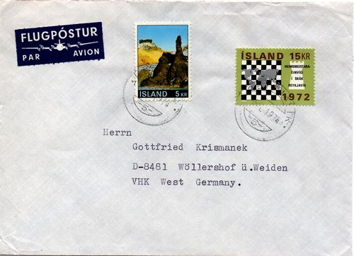 1974 Registered Cover to Germany