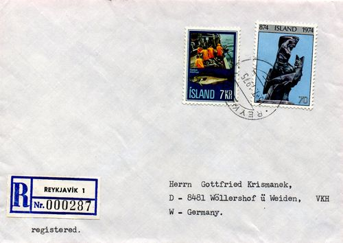 1975 Registered Cover to Germany