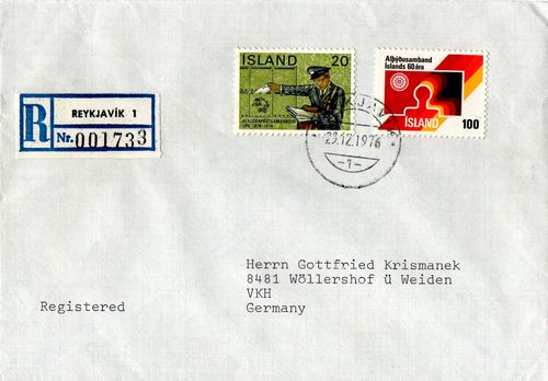 1976 Registered Cover to Germany