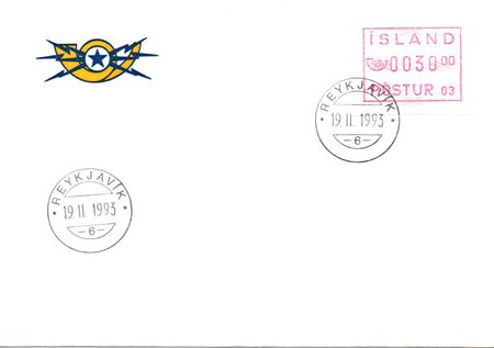 1993 Machine Labels POSTUR 03 FDC