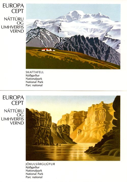 1986 Europa: National Parks PHQ Cards
