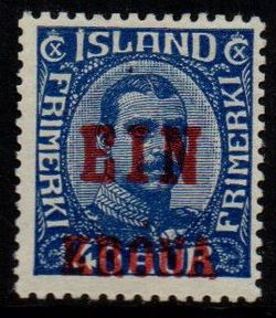 1926 1 Kr on 40a Blue