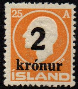 1926 2 Kr on 25a Orange