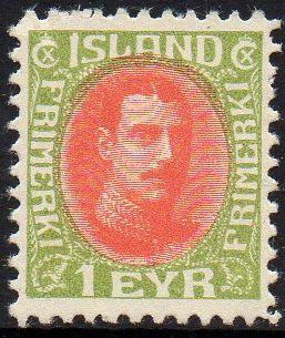 1937 1e red and green Perf 11½