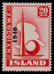 1940 World Fair 20a Scarlet (Overprint)