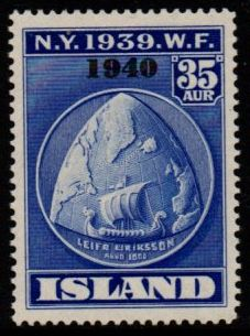 1940 World Fair 35a Blue (Overprint)