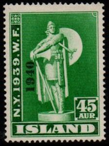 1940 World Fair 45a Green (Overprint)