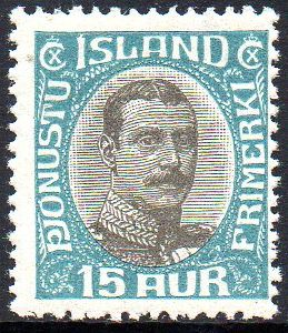 1920/30 Official 15a Turquoise